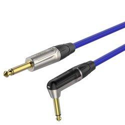 6.3mm mono plug - 6.3mm mono plug right angle  Roxtone TGJJ110L5 TBU
